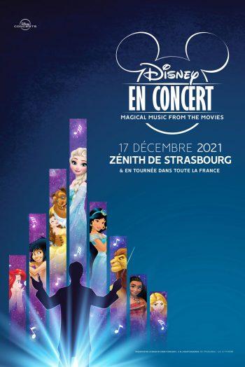 Affiche Disney en concert Zénith de Strasbourg Europe
