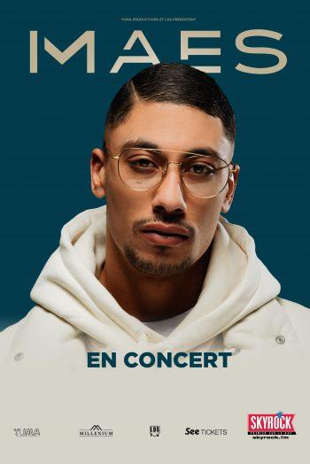 Affiche Maes tournée concert Zénith de Strasbourg Europe