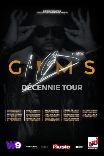 Affiche Gims Decennie Tour concert tournée Zénith de Strasbourg Europe