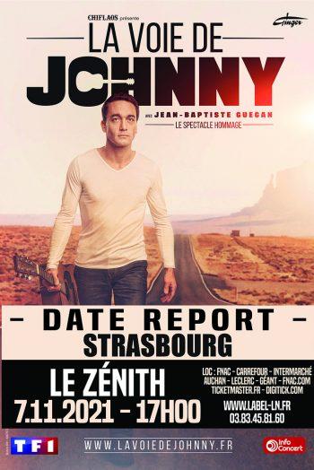 Affiche La voie de Johnny concert jean baptiste guégan zenith de strasbourg europe