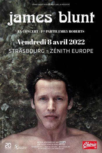 James Blunt affiche concert once upon a mind tour Zénith de Strasbourg Europe