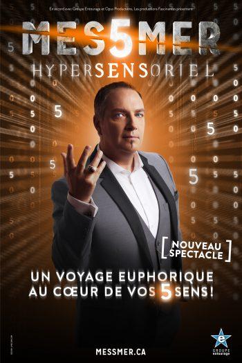 Affiche Messmer hypersensoriel magicien hypnotiseur spectacle zenith de strasbourg europe