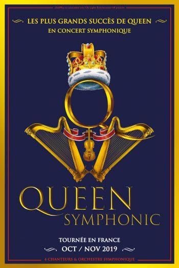 Affiche Queen Symphonic concert tournée orchestre zénith de strasbourg europe