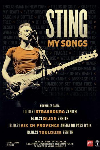 STING MY SONGS CONCERT tournée ZÉNITH DE STRASBOURG