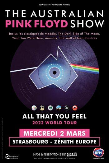 The Australian Pink Floyd show concert tournée affiche zenith de strasbourg europe