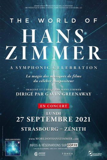 Affiche THE WORLD OF HANS ZIMMER a symphonic celebration concert spectacle orchestre zénith de strasbourg europe