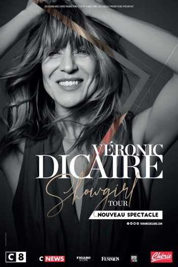 Affiche Véronique Dicaire spectacle showgirl tour tournée concert imitations zénith de strasbourg europe
