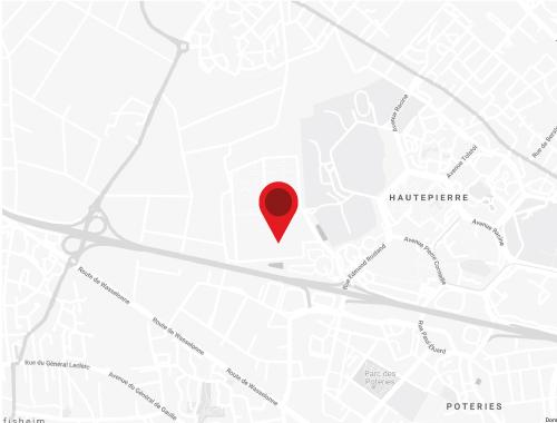 Accès map carte itinéraire zénith de strasbourg europe