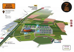 plan accès Zénith Strasbourg