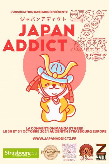 Japan addict affiche salon zénith de strasbourg